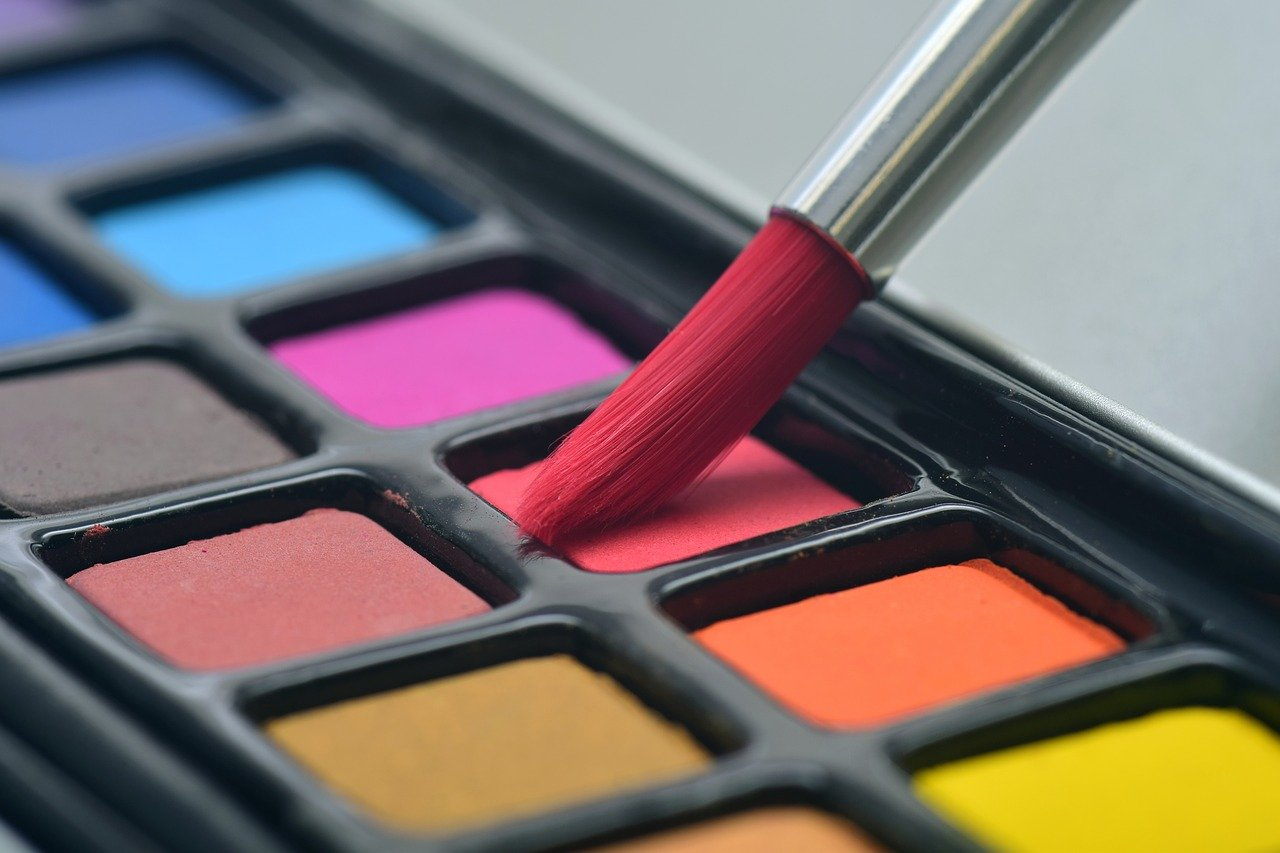 brush, watercolor, paint