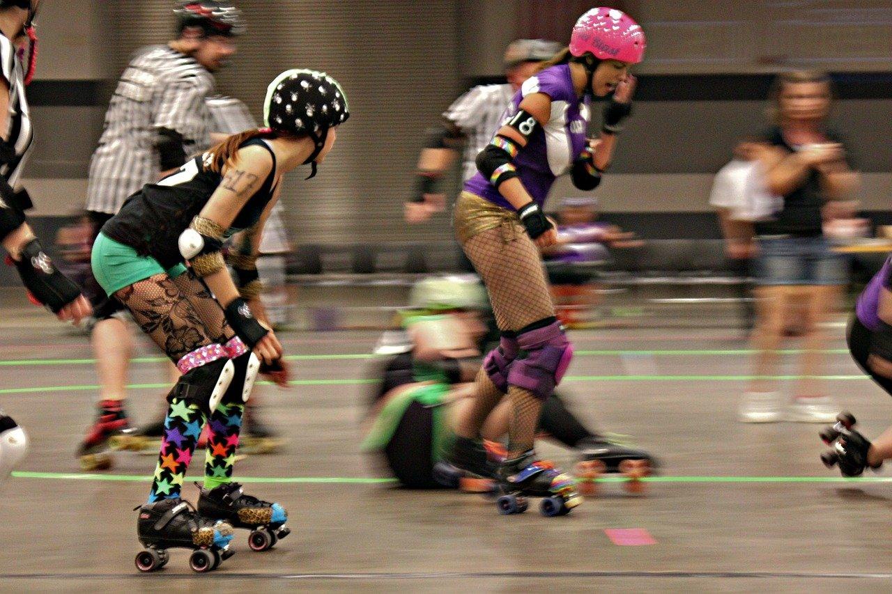 rollerderby, skate, roller-skating